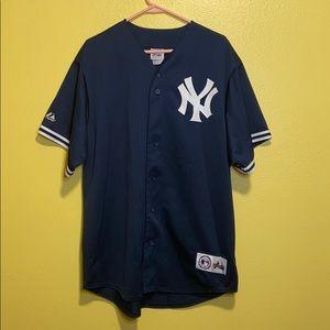 Majestic New York Yankees Derek Jeter Jersey sz L